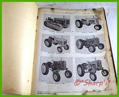 John Deere 40 Parts Catalog Pc862 Genuine Original 1963 Version Dealership