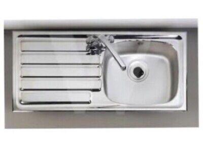 = Astracast JADE Kitchen Sink 1 Bowl Left Hand LH Drainer Stainless Steel  :6 Astracast Kitchen Sink