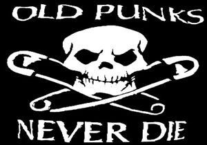 OLD PUNKS A5  IRON ON TRANSFER A5 DESIGN  T SHIRT TRANSFER 8X6 PUNK ROCK A5