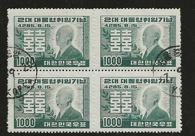 KOREA SC# 182 USED STAMPS BLOCK