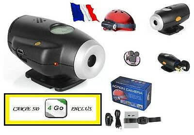Camera Embarque Mini Dv Hd 640x480 + Carte Micro Sd 4 Go Inclus