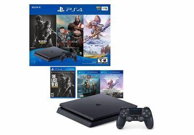Sony Playstation 4 Slim Uncharted 4 Console Bundle - Black CUH-2215