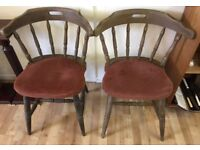 Vintage spindal back captain chairs