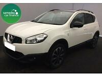 £241.27 PER MONTH WHITE 2013 NISSAN QASHQAI 1.5 DCI 360 5 DOOR DIESEL MANUAL