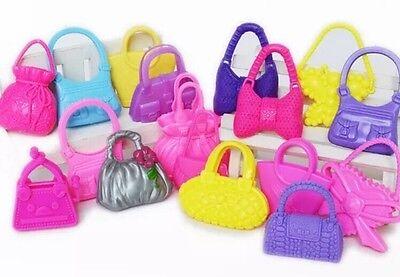 Barbie Doll Purse (Barbie Doll Handbag Purse Set Lot Of 10 Random Purse Accessories US)