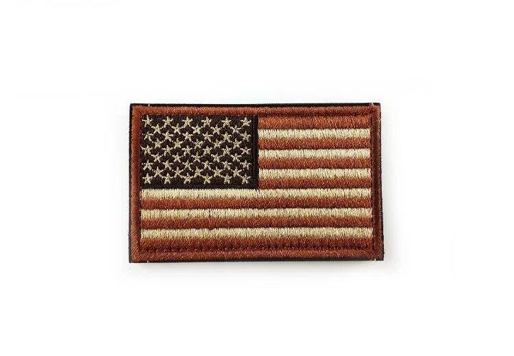 Brown USA Flag