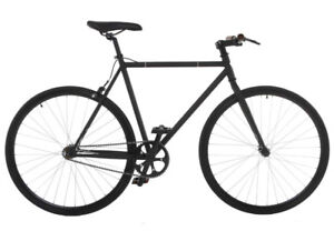 Barely used matte black 54cm single speed/fixie