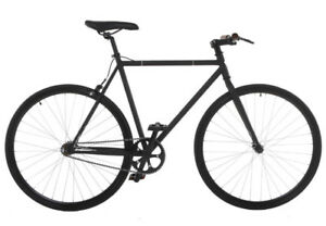 Barely used 54cm frame single speed bike - matte black