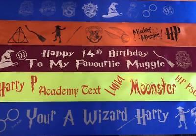 Harry Potter Themed Birthday Party (Harry Potter Themed Personalised Sash Hen Party Birthday)