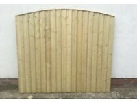 Top Quality Feather Edge New Arch Top Timber Fence Panels