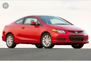 WANTED! Looking for a red 2012 Honda Civic .