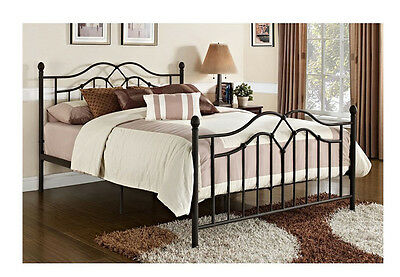 Queen Size Bed Frame Metal Bronze Bed ...