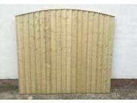 High Quality * Heavy Duty Bow Top Feather Edge Fence Panels