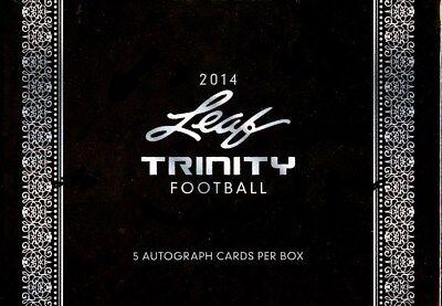 2014 LEAF TRINITY FOOTBALL HOBBY BOX BLOWOUT CARDS (Trinity Box)