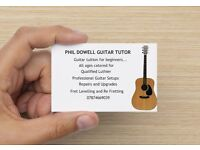 Guitar Tuition for Beginners..All ages catered for...Home visits available to suit you.