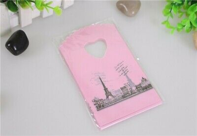 Hot Sale Wholesale 50pcslot Pink Eiffel Tower Packaging Bags Plastic Shopping B