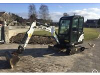 Mini digger hire 1 ton hi tip dumper 1/4 ton power barrow self drive