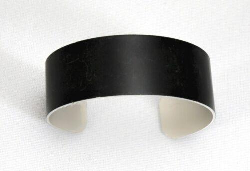 "Black Anodized Aluminum Cuff Bracelet Blanks, 3/4"" x 6"", one dozen"