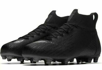 Nike Jr Mercurial Superfly 6 VI Elite FG Soccer Cleats Black Size 4Y AH7340-001