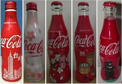 Special Edition 5 full coca cola from Taiwan aluminium and glass bottle