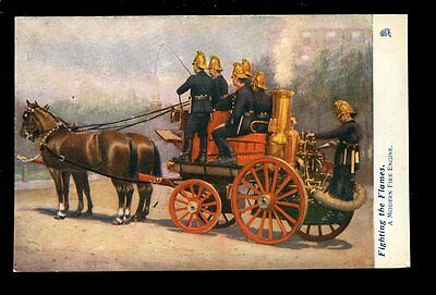 FIRE SERVICE A Modern Fire Engine Oilette series Fighting the Flames 1911 PPC