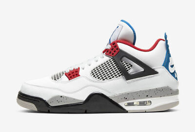Nike Air Jordan Retro 4 IV What The White Red Blue CI1184-146 Mens & Kids (Retro The Kid)