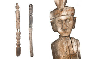 "Ancient Carved Wooden Posts - ""Suami Entrance Posts"""