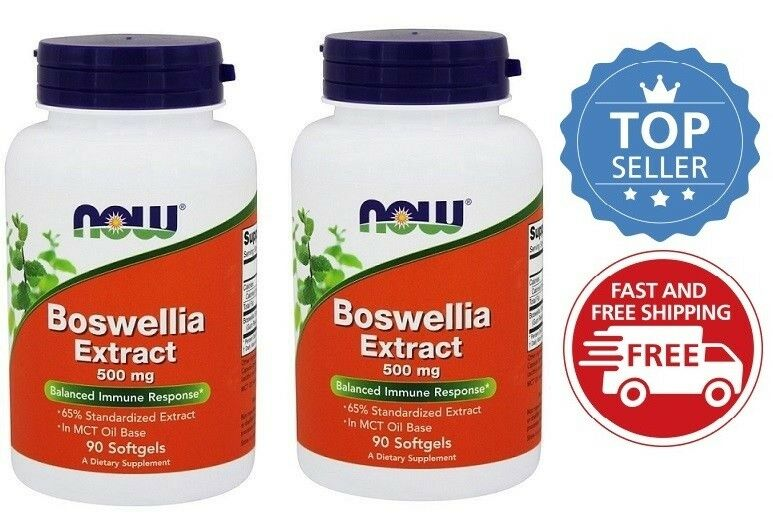 NOW Foods Boswellia Extract Balanced Immune Response 500 mg, 90 Softgels-2 Pack