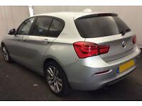 Silver BMW 118 d Sport 2016 2.0 5 door Manual Diesel FROM £67 PER WEEK!