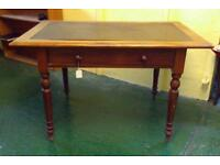 Table/Desk With Leather Inlay