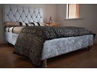 Double UK made crushed or french velvet bed