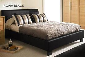 BRAND NEW -DOUBLE SMALL DOUBLE BED IN BLACK AND BROWN AVAILABLE IN SINGLE AND KING SIZE BED
