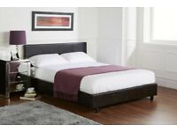 **SPECIAL OFFER** BRAND NEW Double Leather Bed With 2000 POCKET SPRUNG Mattress- SAME DAY DELIVERY