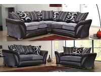 BUY - Special Offer |* SHANNON Large ITALIAN STYLE Corner OR 3+2 SEATER SOFA *| SAME DROP
