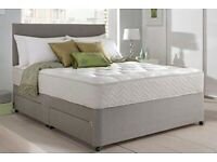 Brand New High Quality Luxury Suede Divan Bed Sets Inc Mattress & Headboard (Free Delivery)