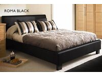 - FREE Fast Delivery -Double Leather Bed & Memory Foam Mattress SINGLE/KINGSIZE