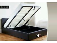 'PAY ON DELIVERY'' -- DOUBLE OTTOMAN STORAGE LEATHER BED FRAME WITH MATTRESS -- ''DISCOUNT OFFER''