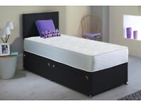🎆💖🎆SAME DAY DELIVERY🎆💖🎆 SINGLE / DOUBLE / KING SIZE DIVAN BED WITH + MATTRESS & SAME DAY