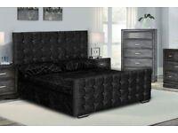 AMAZING PRICE/ FLORANCE BED SET /CRUSHVELVET/SINGLE BASE L