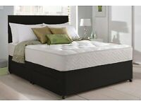 Double fabric divan beds mattresses