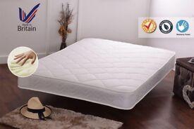 DOUBLE: luxury soft-touch memory foam sprung Mattress