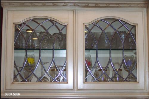 Traditional Heritage Leaded glass cabinet door window inserts SGDK5656