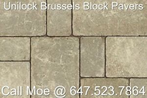Sandstone Brussels Block Pavers Unilock Interlock Pavers