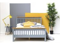 CN-F69 Pickmere Grey Solid Pine Wooden Bed