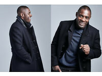 Idris Elba Commander Coat Black XL