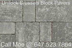 Limestone Brussels Block Pavers Unilock Interlock Pavers