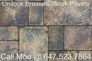 Mahogany Brussels Block Pavers Unilock Interlock Pavers