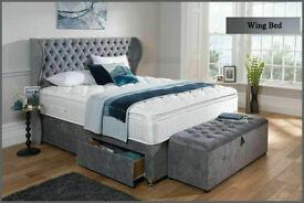 Crush velvet or chenille Wing bed on sale vZQz