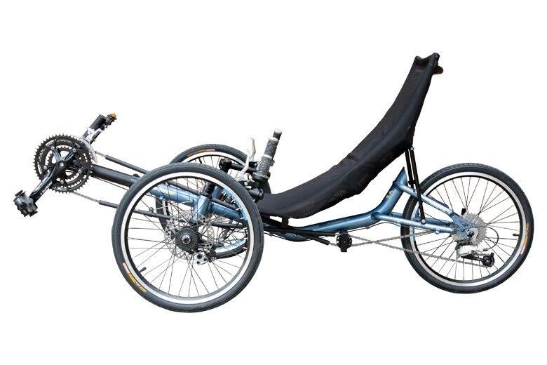 Liegerad Sunbike T3-AX  Komfortrad Dreirad Tadpole Trike 27 Gang