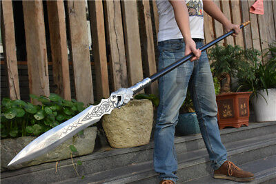 Handmade Sturdy Chinese Manganese Steel Dragon Head Spear Kung Fu Detachable Rod
